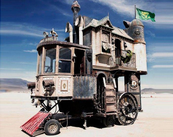 дом на колесах в викорианском стиле