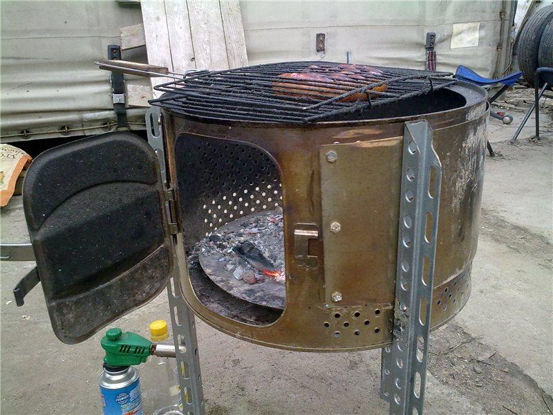 мангал из стиральной машинки