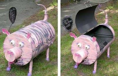 декоративный мангал свинка