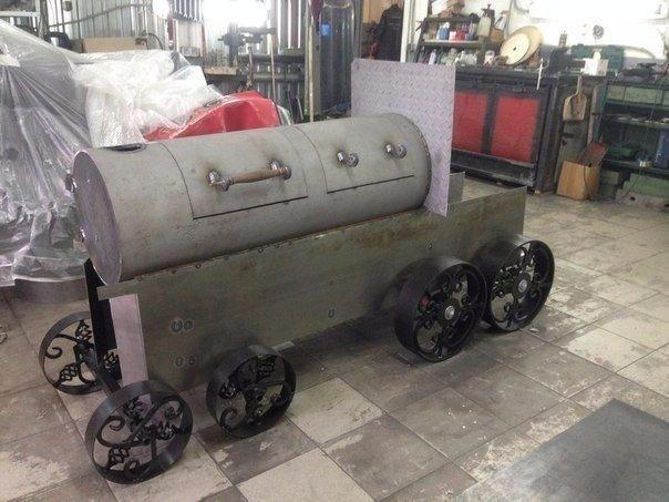 паровозик мангал для дачи
