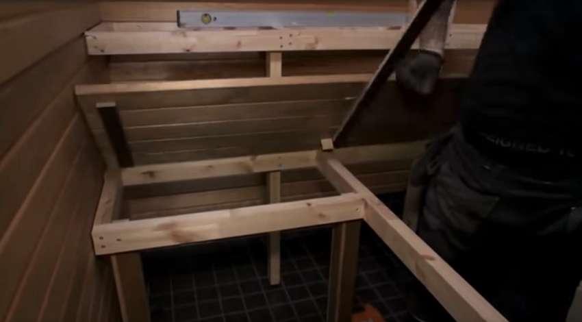Съемные полки в бане и сауне как сделать своими руками из дерева