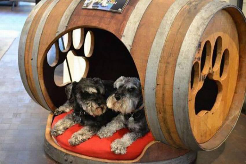Будка конура для собаки из старой бочки
