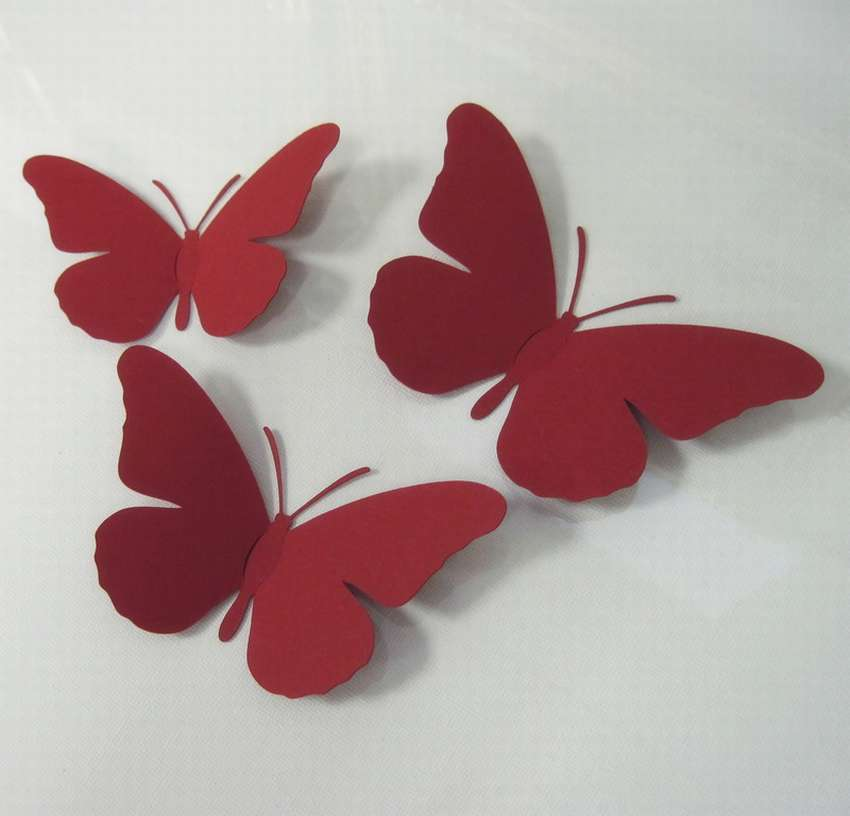 Картинки из цветной бумаги бабочки