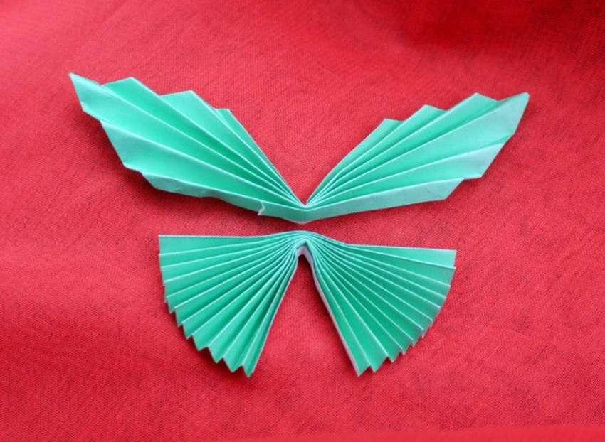 Открытка оригами бабочка