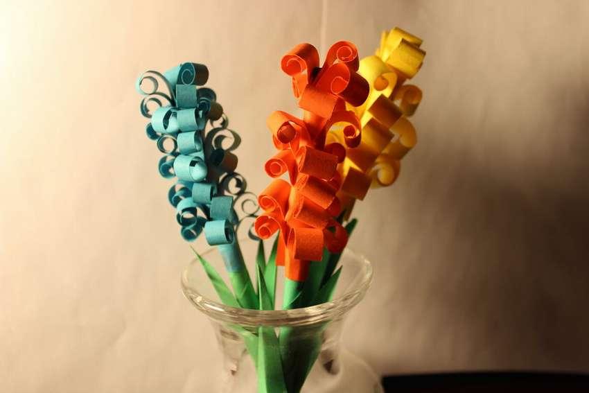 легкие цветы из цветной бумаги своими руками
