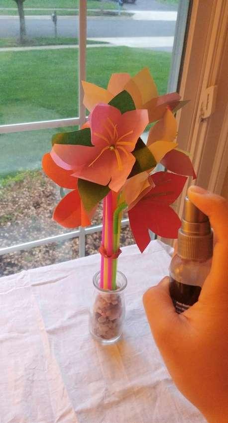 ароматизированные цветы из бумаги