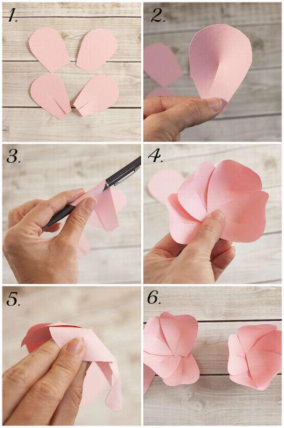 как сделать красивые цветы из цветной бумаги