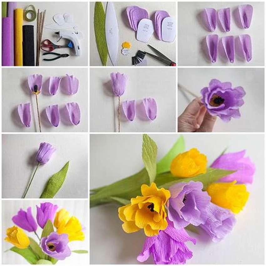 цветы из крепированной бумаги