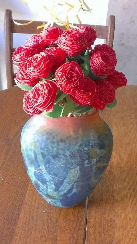 цветы из креповой бумаги мастер класс