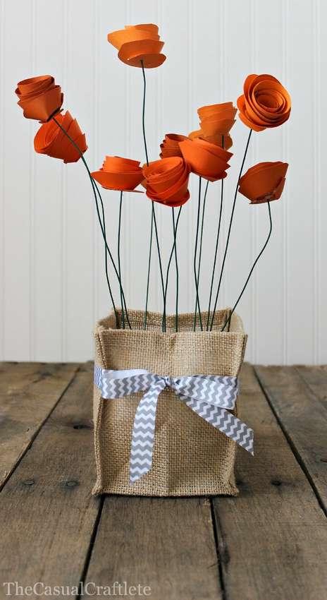 как сделать цветы из бумаги легко и красиво