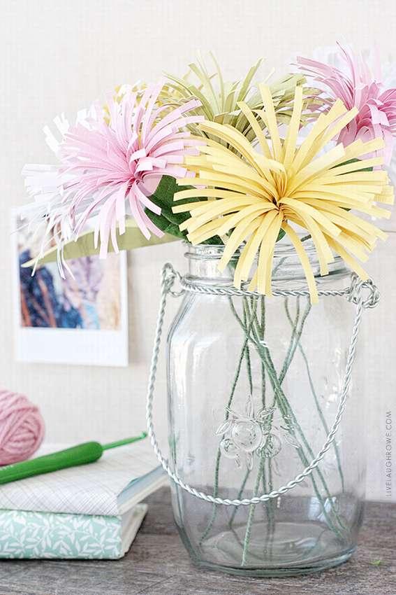 простые цветы из цветной бумаги для детей