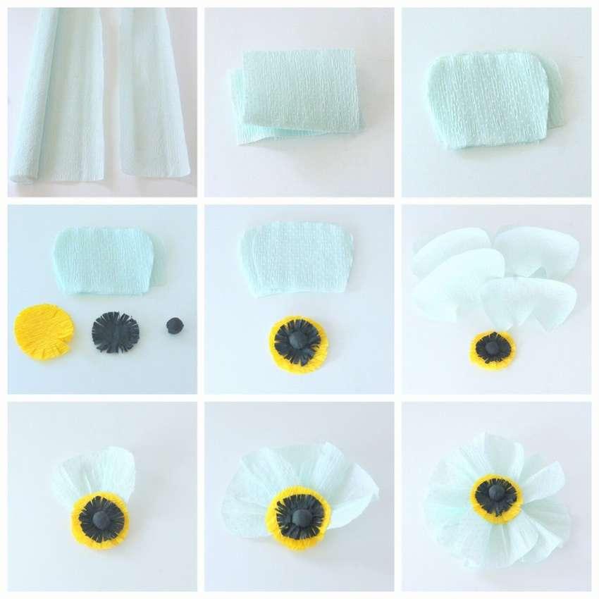 как сделать легкие цветы из бумаги за 5 минут