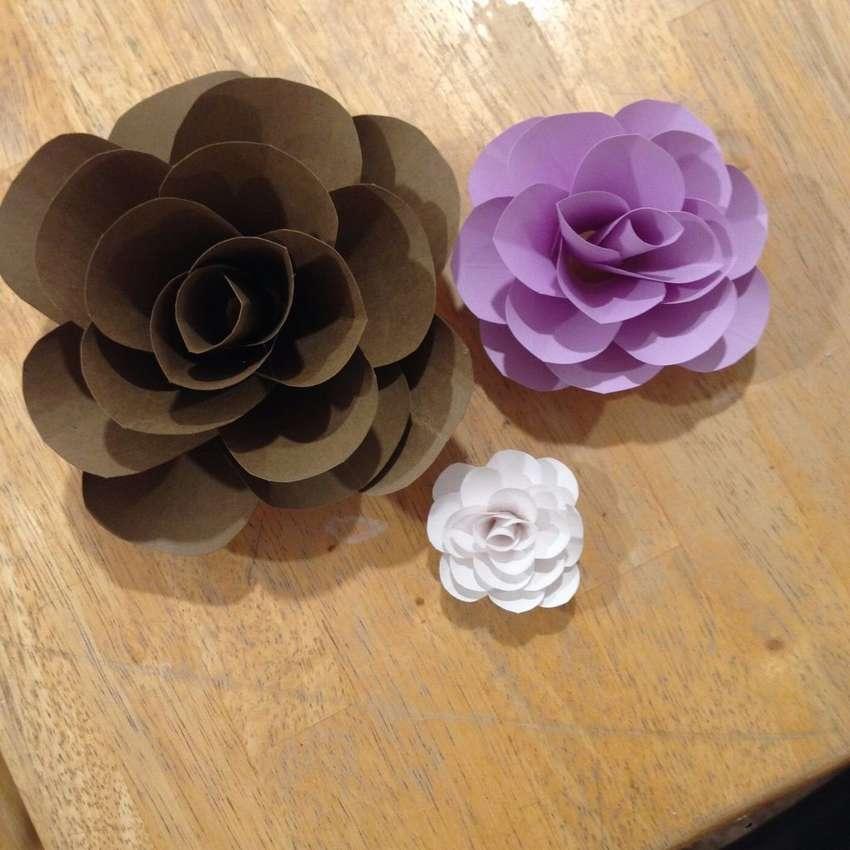 простые цветы из картона