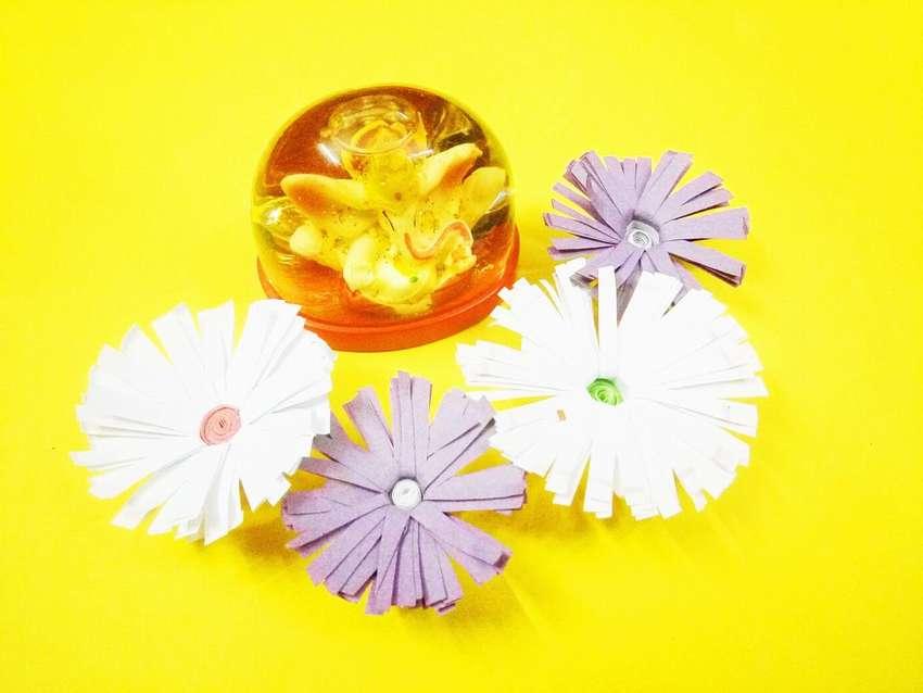 декоративные легкие цветы из бумаги