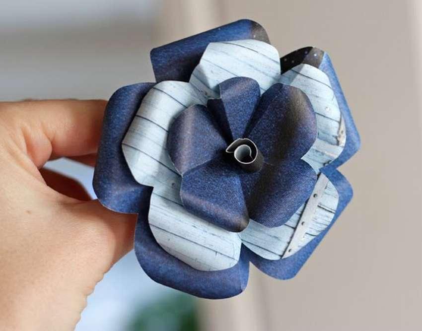 легкие цветы из бумаги без клея