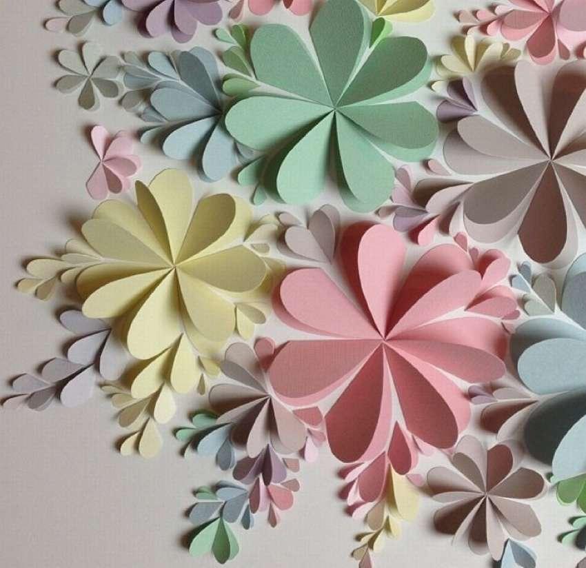 картинки поделок цветов из бумаги тех