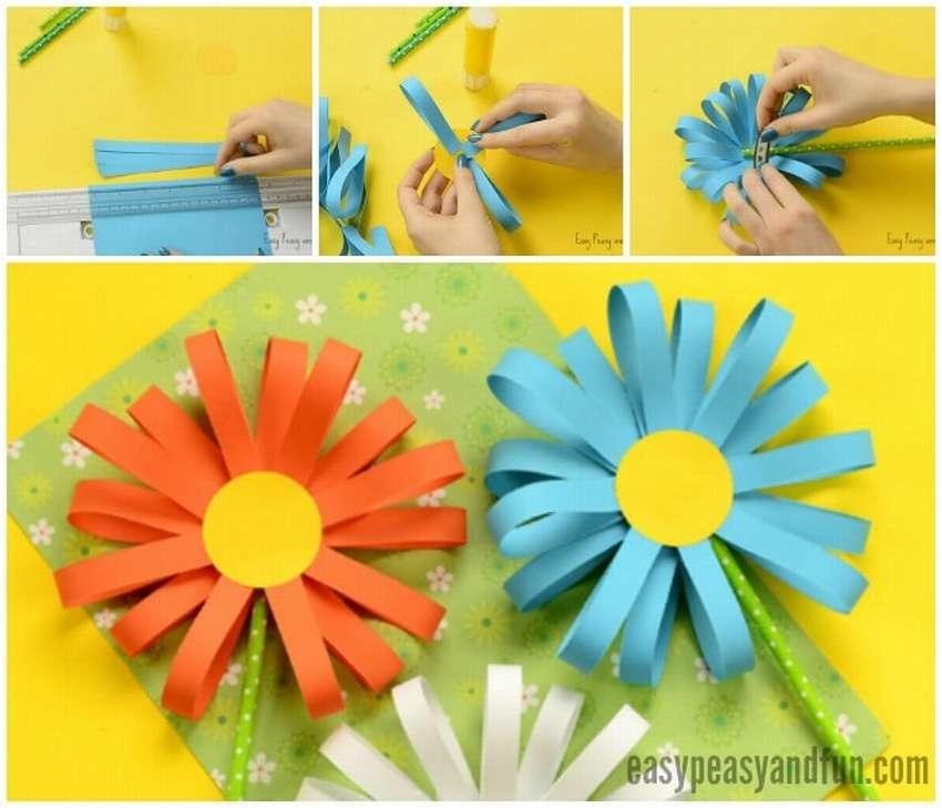 легкая поделка цветы из бумаги