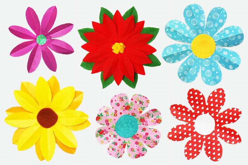 цветы из бумаги 8 лепестков