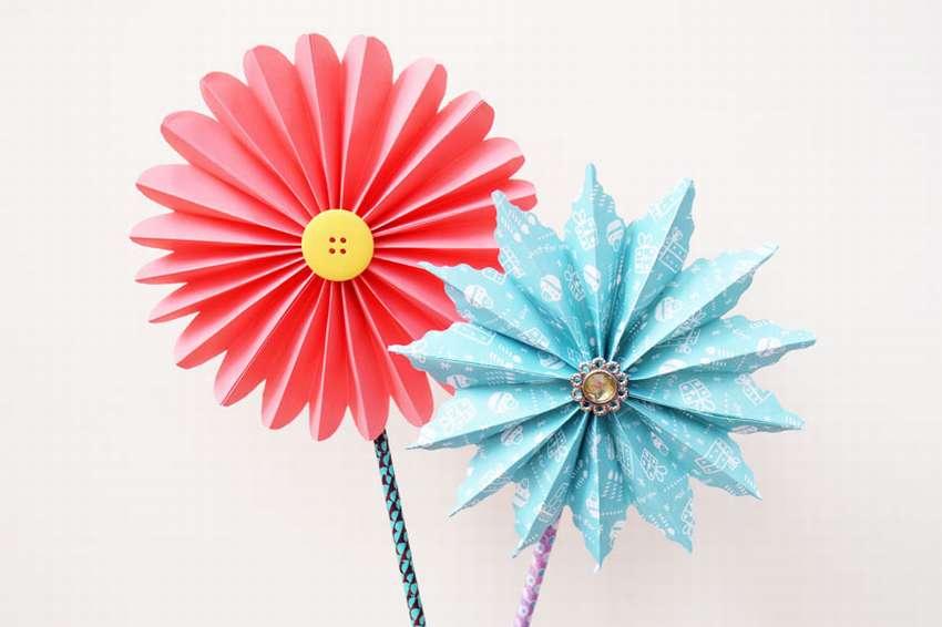 цветы из бумаги пошагово для начинающих легкие