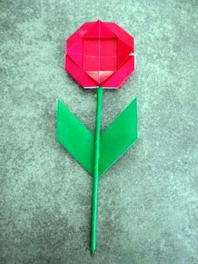 легкие цветы оригами для детей