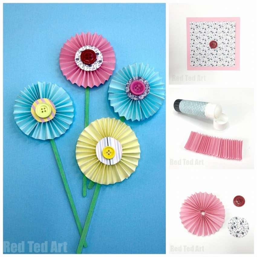 красивые поделки цветов из бумаги
