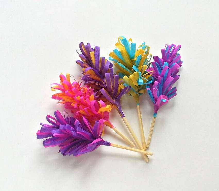 легкие цветы из бумаги гиацинты