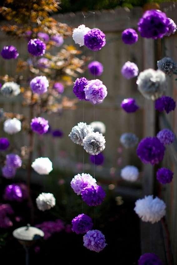 цветы помпоны из бумаги своими руками