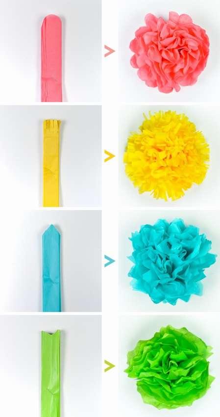 объемные цветы из салфеток