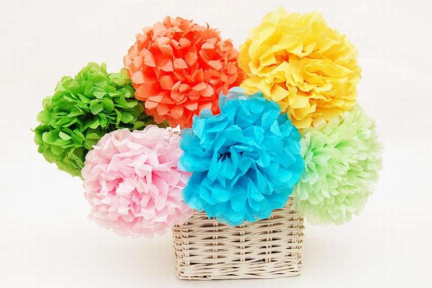 объемные цветы из салфеток своими руками