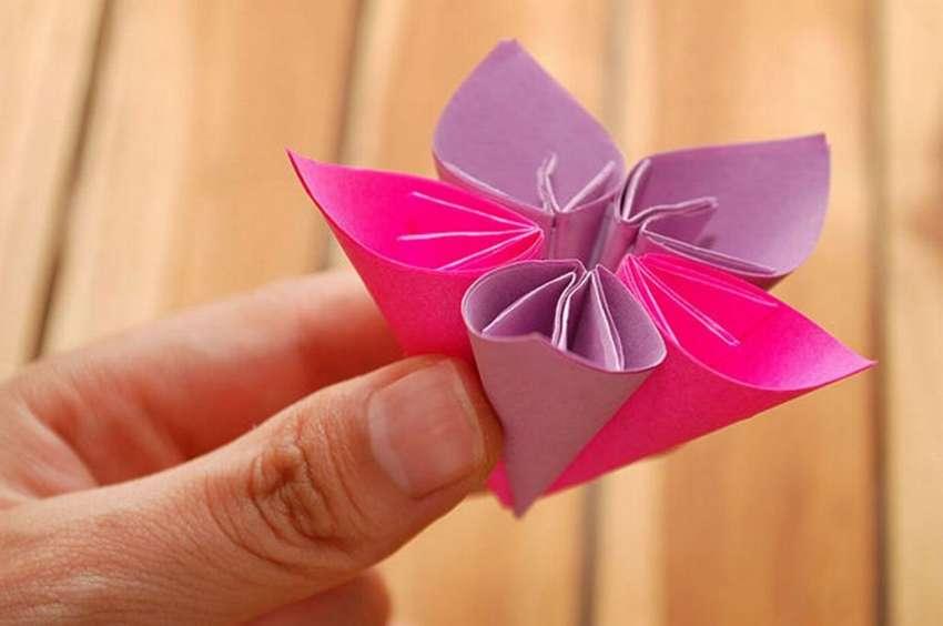 объемный цветок кусудама