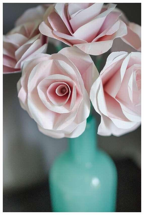 как сделать бумажную розу