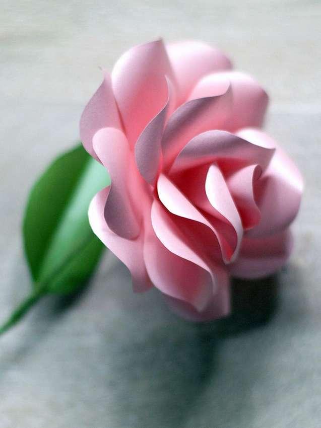 как сделать розы из бумаги по шаблону