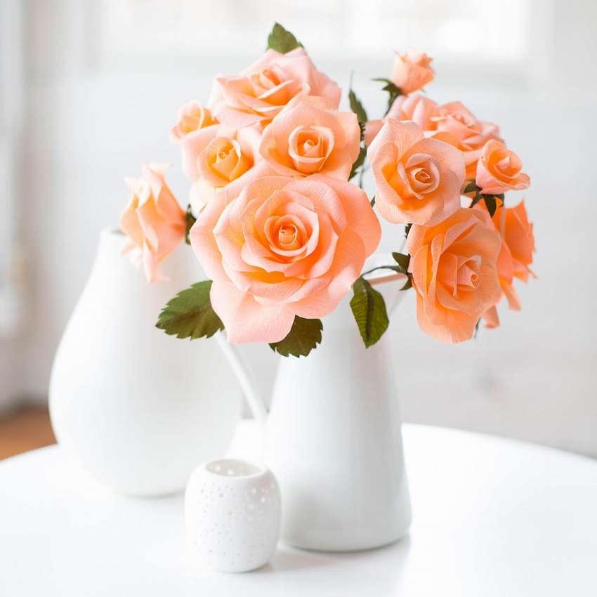 как сделать розу из бумаги своими руками пошагово