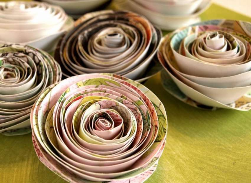спиральная роза из бумаги