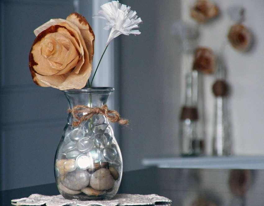цветы из кофейных фильтров