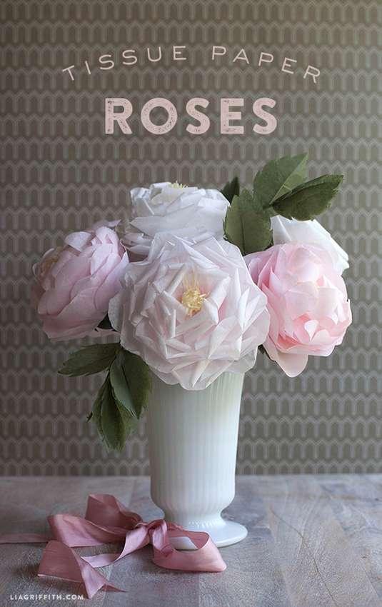 розы из папиросной бумаги