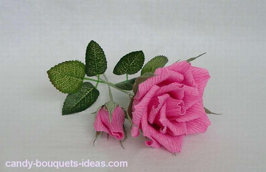 цветок розы из гофрированной бумаги мастер класс