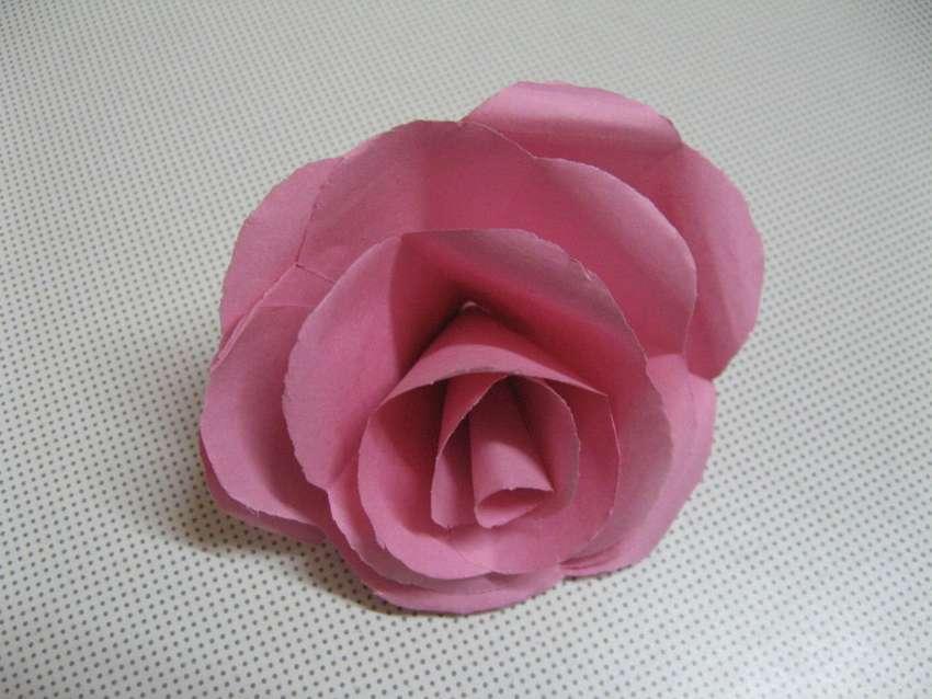розы из бумаги формата А4