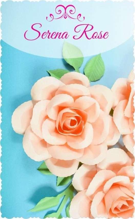 роза из бумаги для начинающих пошагово