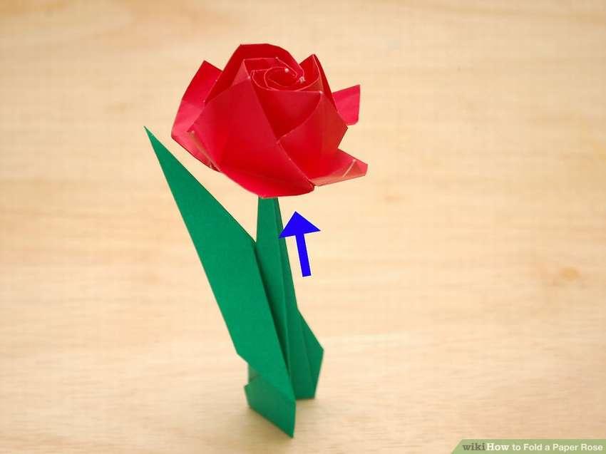 как сложить розу из бумаги