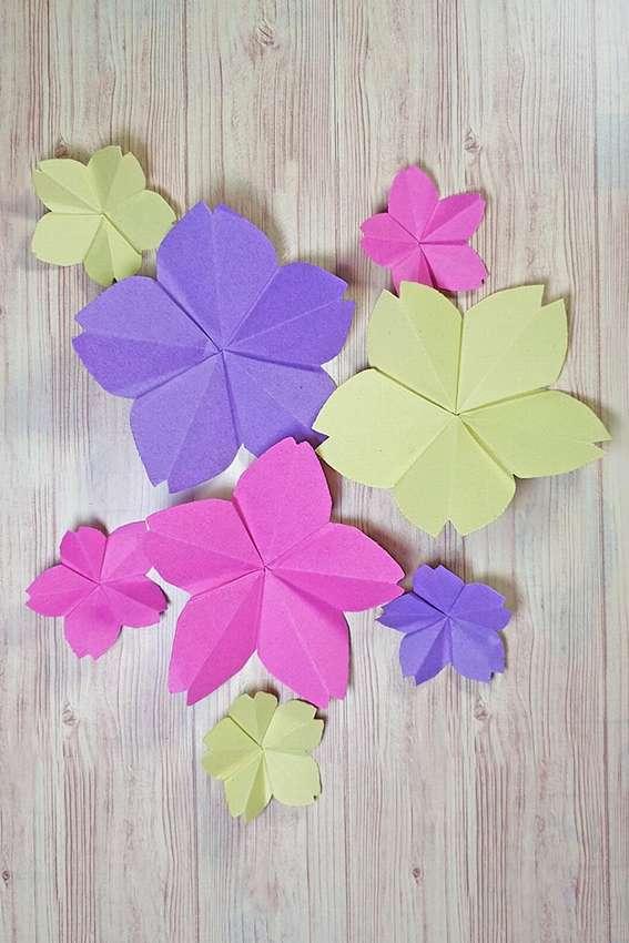 цветы сакуры оригами