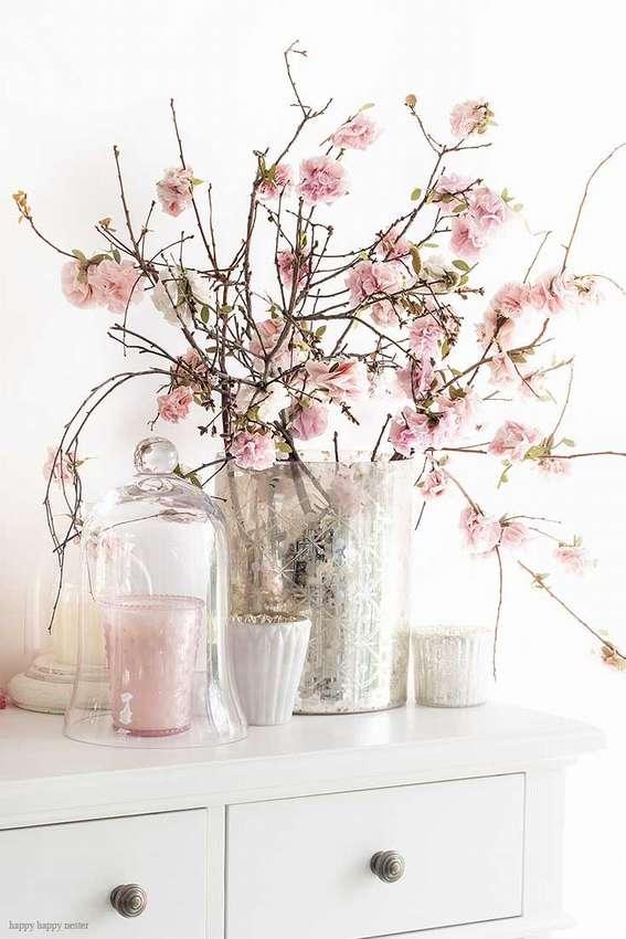 как сделать цветы вишни из бумаги