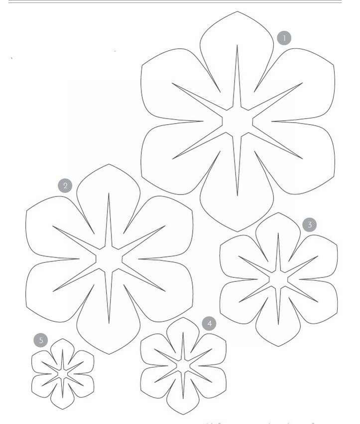 Трафареты своими руками шаблоны цветы для вырезания из бумаги