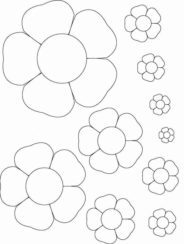 цветы из цветной бумаги шаблоны вам взглянуть