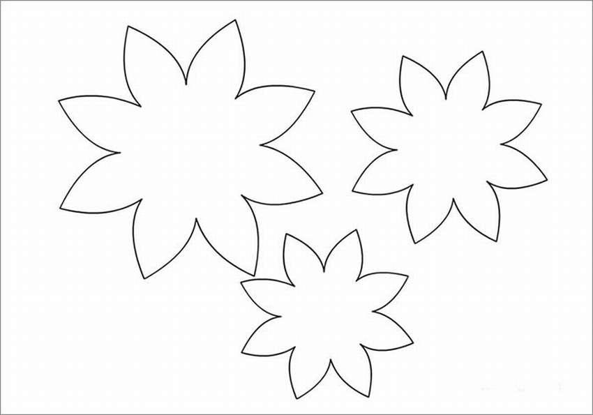 цветок из бумаги на открытку шаблон вечеринки