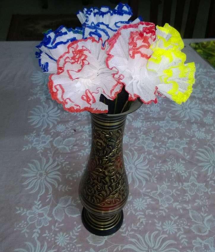 цветы из туалетной бумаги своими руками