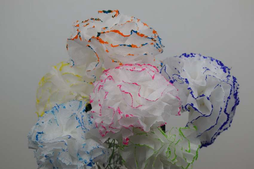 гвоздики из туалетной бумаги