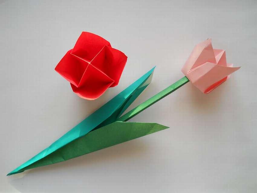 тюльпан из цветной бумаги мастер класс с пошаговым фото роспись как никто