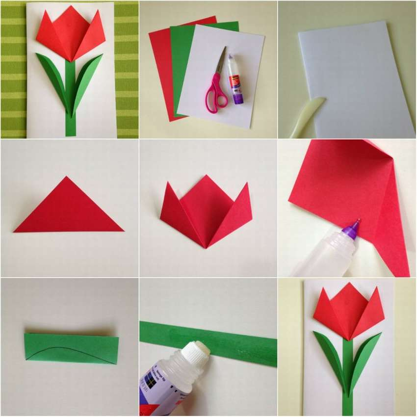 стекловолокнистой основе, тюльпан из бумаги своими руками пошаговое фото шарджи
