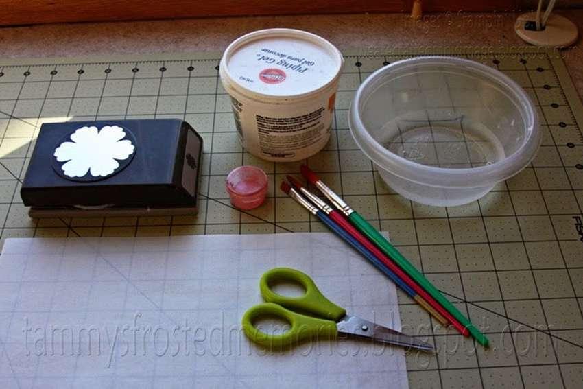 как сделать цветы из вафельной бумаги
